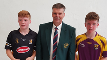 Bobby Doyle (right) with Kilkenny's Michael Brennan and Ricky Barron (Leinster Juvenile Chairman)