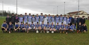 The Good Counsel squad before Tuesday's South Leinster Junior football 'A' championship final in Páirc Uí Bhríain, Carlow