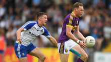Kevin O'Grady on the move during the championship loss to Monaghan earlier this year