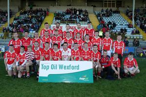 The Monageer-Boolavogue squad before Saturday's incident-filled final in Innovate Wexford Park