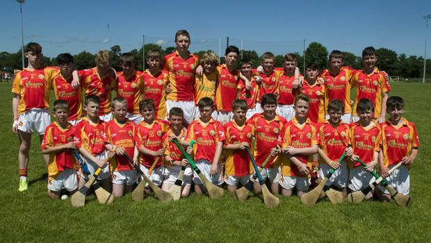 The Davidstown-Courtnacuddy panel before Sunday's Division 9 Cup final against Galmoy/Windgap from Kilkenny in Fenagh