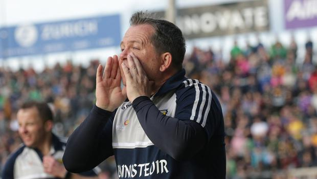 Davy Fitzgerald getting his message across during the drawn round-robin encounter