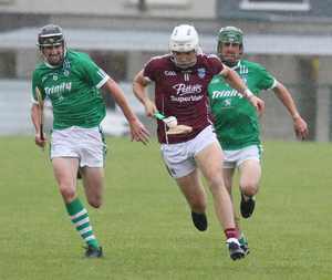 Rory O'Connor on the move, with Connal Flood and Alan Carton in hot pursuit
