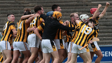The celebrations begin for the Shelmaliers players after capturing the Pettitt's Senior hurling title for the first time since 2014