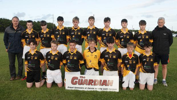 The Adamstown squad before their defeat in Kilmore