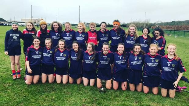 The victorious Presentation (Wexford) squad