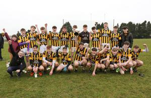Shelmaliers celebrating their O'Loughlin Cup success in St. Patrick's Park on Sunday