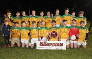 The triumphant Our Lady's Island/St. Fintan's squad with the spoils of success