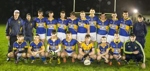 The Geraldine O'Hanrahans squad before winning the District Under-21 football Roinn 1 title for the first time since 2004 on Friday