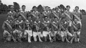 Buffers Alley, 1970 Co. Senior hurling champions. Back (from left): Bill Murphy, Mick Kinsella, Michael Jordan, Larry Harney, Paddy Kavanagh, Henry Butler, Tony Doran. Front (from left): Mick Butler, Colm Doran, Joe Doran, Pierie Butler (capt.), John Doyle, Martin Casey, Bill Doran, Jack Hall. Photos: PJ Browne