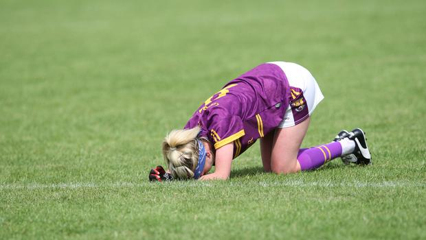 Dejection for Wexford's Kellie Kearney after the final whistle