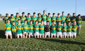 The St. Mary's C.B.S. (Enniscorthy) squad prior to their defeat in Friday's final in Bellefield