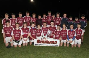 The St. Martin's boys with the spoils of success after the New Ross Standard Under-14 football Division 1 shield final