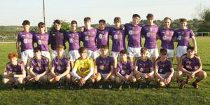 The victorious Wexford Purple squad before Wednesday's victory