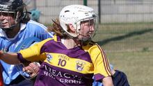 Linda Bolger of Wexford making tracks towards the Dublin goal