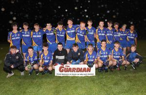 The Gusserane squad before their loss to Our Lady's Island/St. Fintan's in the Gorey Guardian Juvenile football Roinn 1 shield final