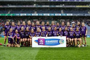 The St. Martin's squad before their maiden appearance in an AIB All-Ireland Club Senior camogie final in Croke Park on Sunday