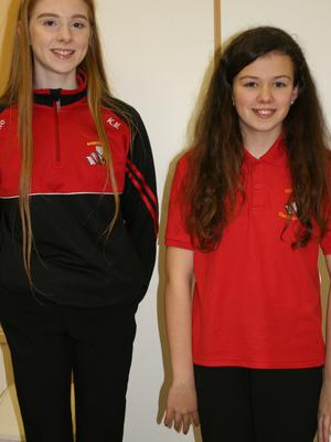 Two of the participants from the host club, Bannow-Ballymitty