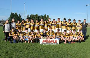 The Shelmaliers squad prior to Saturday's Wexford People Minor football Roinn 1 championship final in St. Patrick's Park, Enniscorthy