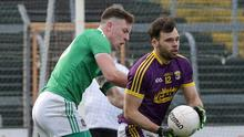 Conor Devitt looking for a colleague to lend some support to this attacking move