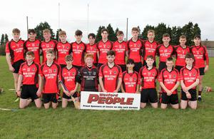 The Oulart-The Ballagh panel before the replayed final in St. Patrick's Park, Enniscorthy