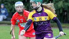 Joanne Dillon, seen here in action in the previous round against Cork, scored one of the two goals in Banagher on Sunday