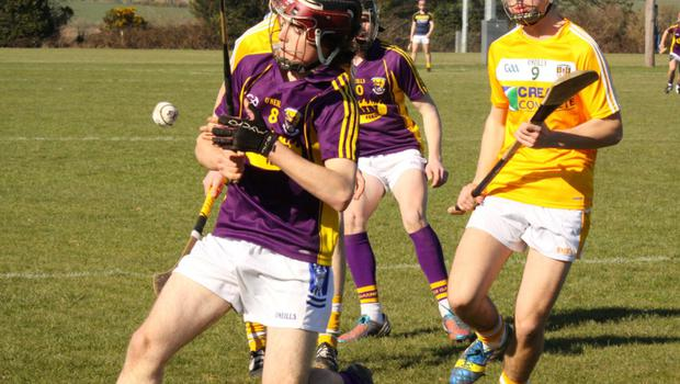 Ciaran O' Connor about to strike the ball downfield