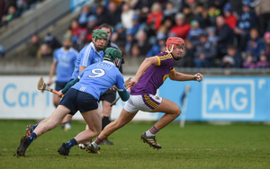 Paul Morris escapes the close attention of Dublin midfielder Tomás Connolly in the course of Sunday's flattering seven-point success