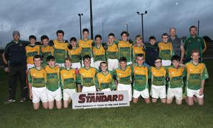The HWH-Bunclody panel prior to their loss in the New Ross Standard Under-14 football Division 1 shield final