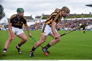 Kieran Joyce of Kilkenny evades Conor McDonald who will be back in action with the Under-21s in Tullamore on Wednesday