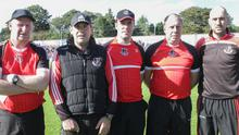Martin Dempsey (left) with Frank Flannery, Pierce Redmond, Alan O'Connor and Ray Harris. Dubliner Shane O'Brien has also come on board with the champions this year as coach