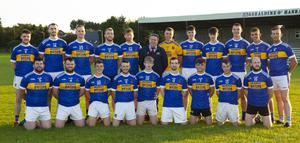 Members of the Geraldine O'Hanrahans at a training session in O'Kennedy Park with their sponsor, Dermot Kehoe