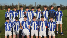 The Good Counsel (New Ross) squad before retaining their South Leinster Juvenile football 'A' title in Fenagh on Friday