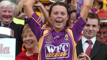An image of Mary Leacy that camogie followers will never forget - her unbridled joy after captaining Wexford to a first All-Ireland title for 32 years in 2007 with a two-point win over Cork