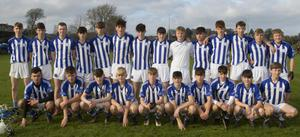 The Good Counsel (New Ross) squad before Thursday's heavy Leinster Junior final defeat against St. Kieran's in Thomastown
