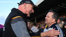 The mutual respect between rival managers Brian Cody and Davy Fitzgerald is reflected in this post-match photograph