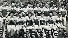 The All-Ireland winning Wexford Senior hurlers of 1968. Back (from left): Dan Quigley (capt.), Eddie Kelly, Willie Murphy, JackBerry, Phil Wilson,Tom Neville, Tony Doran, Dave Bernie. Front (from left): Pat Nolan, Seamus 'Shanks' Whelan, Paul Lynch, Christy Jacob, Vinnie Staples, Jimmy O'Brien, Ned Colfer