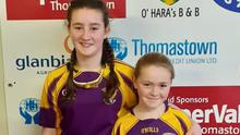 Amber Cronin-Kenny and Boo Murphy, under-12 doubles champions