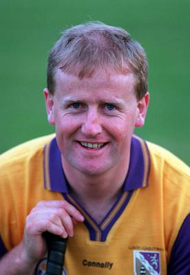 Our man Tom sporting a big smile - and a fine head of hair too! - in the build-up to the 1996 All-Ireland Senior hurling final