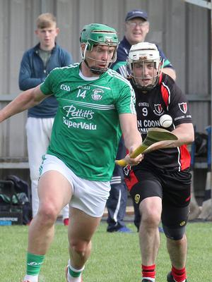 Gorey's Conor McDonald steals a march on Tommy Storey