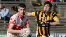 Kilanerin's Dean O'Toole steals a march on Shelmaliers defender Andre O'Brien