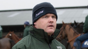 Gordon Elliott supervising his horses at Cullentra - he has to step down for six months from this Tuesday