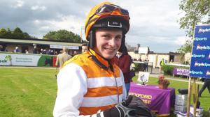 Seán O'Keeffe on home ground in the Wexford winners' enclosure