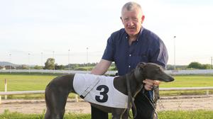 Tom Codd with Minnies Dacha, winner of the fourth race on Monday (June 14th)