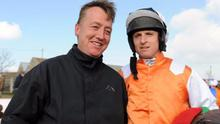 Two men who will have to deal with the Brexit fall-out this year - handler Denis Murphy who makes a big impact at the sales in Britain, and his regular point-to-point rider, Jamie Codd, who is also an agent for the Tattersalls Sales company in Ireland