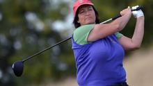 Connie Doyle (Enniscorthy) driving at the 8th tee in the Junior Cup at the 2015 AIG Ladies Cups and Shields Finals at Knightsbrook Golf Club