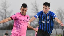 Thomas Croke, seen here in action against Athlone Town, worked hard in midfield for 77 minutes