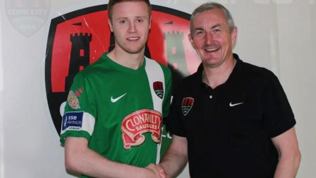 Kevin O'Connor is welcomed to Cork City by manager John Caulfield