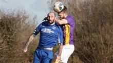 Wexford's Gary Delaney gets above Paul McMillan