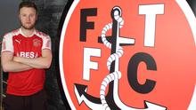 Kevin O'Connor sporting his new Fleetwood Town colours